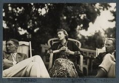 Sir Philip Bouverie Bowyer Nichols; Virginia Woolf; Philip Edward Morrell, by Lady Ottoline Morrell, June 1926 - NPG Ax142586 - © National Portrait Gallery, London