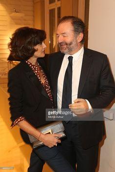 Ines de la Fressange and Denis Olivennes attend 'Le Paris Du Tout Paris' : Book Presentation At Maison Roger Vivier on February 4, 2014 in Paris, France.