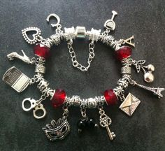 Fifty 50 Shades Of Grey RED ROOM Inspired Jewellery Charm / Bead Bracelet GIFT