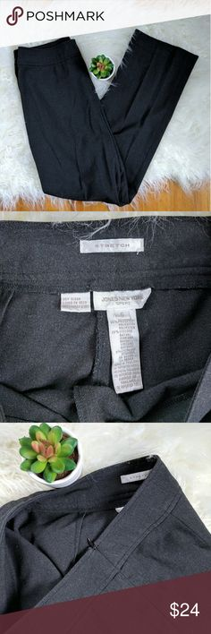 JONES NEW YORK SPORT | grey slacks Side zip, excellent condition.  Measurements:  Flat across waist 16 inches Front rise 11 inches Inseam 30 inches Jones New York Pants Trousers