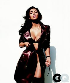 Pin for Later: Kim Kardashian Is on the Cover of GQ Wearing a Leather Jacket — as a Towel