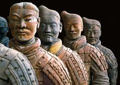 9 figures from the tomb of the 1st Qin emperor in Times Square