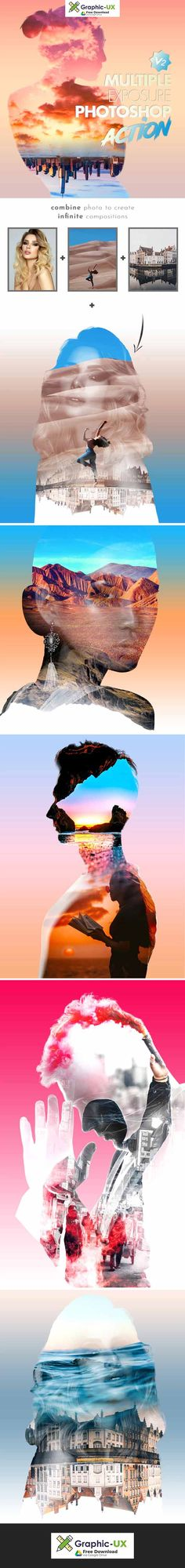 Multiple Exposure V2 Photoshop Action free download – GraphicUX Free Photoshop, Photoshop Actions, Multiple Exposure, Lightroom Presets, Wordpress Theme, Wordpress Template