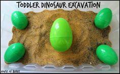 Toddler Dinosaur Excavation!
