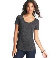 Trend Tee - The very essence of right-now cute, we made major updates to the classic cool staple (like a more relaxed fit, a silhouette-shaping rounded hem and a chic back seam detail) to get this on-trend must. U-neck. Short sleeves. Banded neckline.
