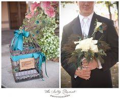 peacock wedding card box