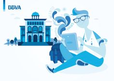 BBVA / Blue Joven by Raul Gomez estudio, via Behance