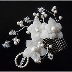 Design Haarschmuck zur Hochzeit ivory Blüten