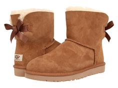UGG Mini Bailey Bow Chestnut - Zappos.com Free Shipping BOTH Ways