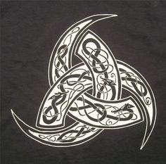 Triple Horn Odin Thor Rune Pagan Norse Regular Crew by TerraWear, $17.00