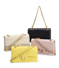 The perfect reward for any bridesmaid. Four Quilted Leather Bags, Chanel, Late 20th Century.