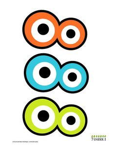 Little Monster Party Decorations - Monster eyes and grins. $3.00, via Etsy.