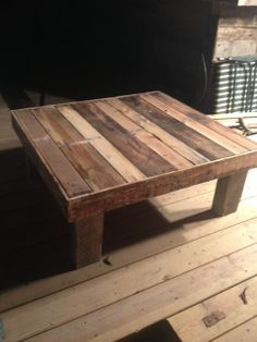 Hand-crafted coffee table using up-cycled pallet wood