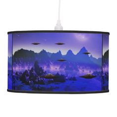UFO alien galaxies space lamp