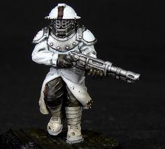Heroic sci-fi human infantry gladiator