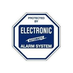 """STICKER: """"PROTECTED BY ELECTRONIC AUTOMATIC ALARM SYSTEM"""" 4"""""""