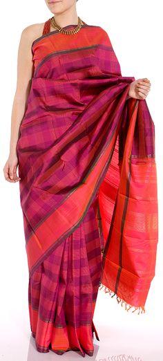 Handwoven pure Kanjivaram Sari
