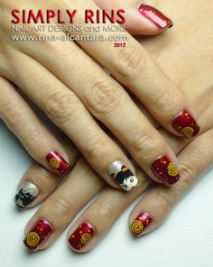 I am unfolding elegant Chinese nail art designs & ideas of Chinese nail art is too cute and adorable, beautiful colors are put together to make dragons, splashy objects and glittery things. New Year's Nails, Love Nails, Art Nails, Nail Art Designs, Dragon Nails, New Years Nail Art, Nail Pictures, Nail Patterns, Picture Design