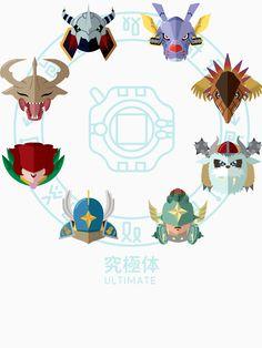 """Digimon Adventure - Mega"" T-Shirts & Hoodies by Sindor   Redbubble"