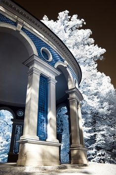 """This photo is called """"Echo Temple"""" - look how the blue stands out against the black and white!"""