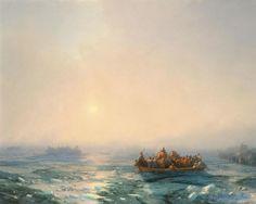 Ivan Aivazovsky, Ice In The Dnieper, 1872