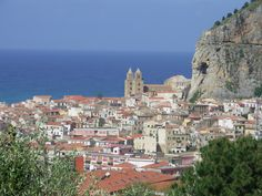 View of Cefalu,   Sicily, Italy