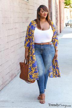 15 Stylish Plus Measurement Outfits mit einem Kimono – Outfit Ideen 15 stylish plus measurement outfits with a kimono Look Plus Size, Curvy Plus Size, Plus Size Girls, Plus Size Women, Plus Size Summer, Plus Size Chic, Curvy Outfits, Mode Outfits, Plus Size Outfits