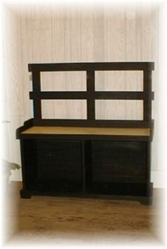 "Storage Bench is a cute little bench with storage underneath.  36""Wx18""Dx18""H"