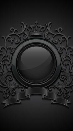 MuchaTseBle Black Phone Wallpaper, Framed Wallpaper, Dark Wallpaper, Cellphone Wallpaper, Mobile Wallpaper, Iphone Wallpaper, Versace Wallpaper, Background Images Wallpapers, Wallpaper Backgrounds