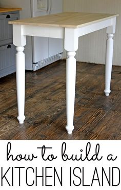 Easy DIY Kitchen Island built by Gina of Shabby Creek Cottage. Furniture Projects, Home Projects, Diy Furniture, Carpentry Projects, Diy Interior, Cozinha Shabby Chic, Cocina Diy, Building A Kitchen, Diy Kitchen Island
