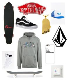 """""""Skate"""" by emmaraej on Polyvore featuring Vans, Volcom, Casetify, King Ice and AMI"""