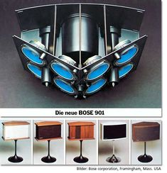 """Great sound and design that survived at least 30 years, still sold, still expensive. The Bose 901 speakers. (Never liked mine, still don't like the Bose """"direct reflected sound"""" took them back after a week! Hifi Speakers, Hifi Audio, Car Audio, Radios, Speaker Box Design, Audio Design, Loudspeaker, Audio Equipment, Audio System"""