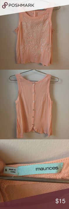 Maurices sleeveless shirt Wow!! I love this style and I hope yall like it too:) Maurices Tops