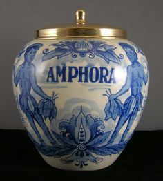 DELFT BLUE HOLLAND AMPHORA TOBACCO JAR Hand Painted Porcelain NATIVE INDIANS  Zoom InZoom Out  Sell one like this     DELFT BLUE HOLLAND AMPHORA TOBACCO JAR Hand Painted Porcelain NATIVE INDIANS