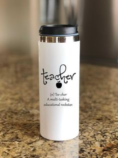 Teacher Gift, Teacher Travel Mug, Teacher Definition Mug, Cute Teacher Gift, End Of School Year, Gift For Teacher, Back To School, Teacher