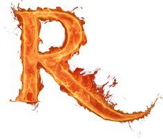 Letras em png efeito fogo - alfabeto fogo em png com fundo transparente para Photoshop - Alfabetos Lindos