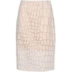 Stella Mccartney Simona Skirt ($874) ❤ liked on Polyvore featuring skirts, bottoms, stella mccartney, pencil skirts, pencil skirt, knee length pencil skirt, stella mccartney skirt and pink skirt