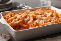 There's a good reason so many families make baked ziti: This three-cheese comfort food only takes 10 minutes to prep. Bring it on.