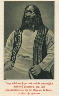 De Poedelman Jojo. From At the circus. Vintage collectable card