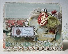 """Webster's Pages + Page Maps  Card """"Holiday Greetings"""""""