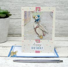 A few varied photos that I like Happy New Year Cards, Happy Birthday Cards, Beatrix Potter, Elmo, Paper Crafts, Diy Crafts, Birthday Design, Bullet Journal Inspiration, Wedding Cards