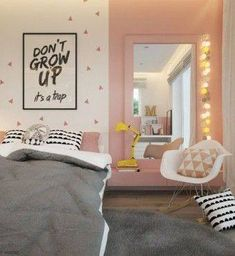 A Kids Bedroom Makeover Ideas My New Room, My Room, Girl Room, Pinterest Inspiration, Room Inspiration, Trendy Bedroom, Girls Bedroom, Kids Bedroom Furniture, Bedroom Decor