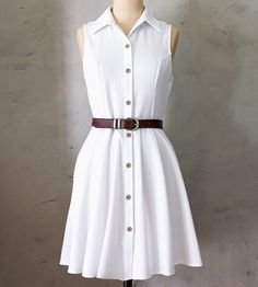Mona Dress Tailored dress with hidden side pockets (!)