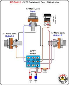 true bypass looper led dpdt switch wiring diagram. Black Bedroom Furniture Sets. Home Design Ideas