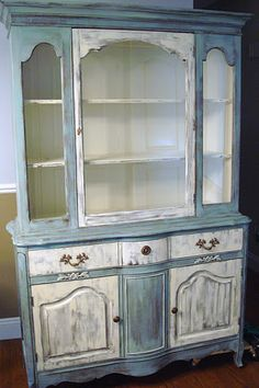 Whimsical Perspective - Painted Hutch - Annie Sloan Chalk Paint