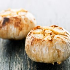 How to easily Roast Garlic in the CrockPot Slow Cooker --- aluminum foil + whole head of garlic for ooey gooey goodness!