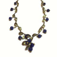 Silver Seasons - Michael Michaud - Blueberry Necklace | SattvaGallery.com