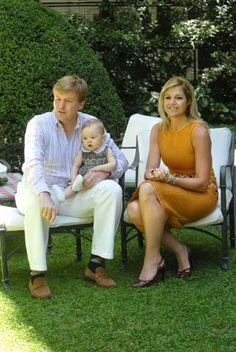 Dutch King Willem-Alexander and Queen Maxima with their daughter Princess Catherina-Amalia