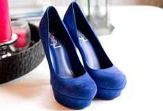 YSL pumps on my lust list Blue Suede Shoes, Blue Pumps, Suede Pumps, Velvet Shoes, Hot Pink Heels, Favim, Sexy High Heels, Up Girl, Me Too Shoes