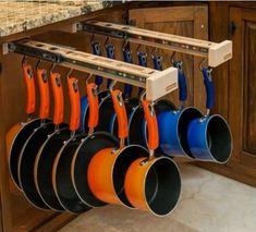 Homemade Pot Rack Ideas | Via Tayne Draper